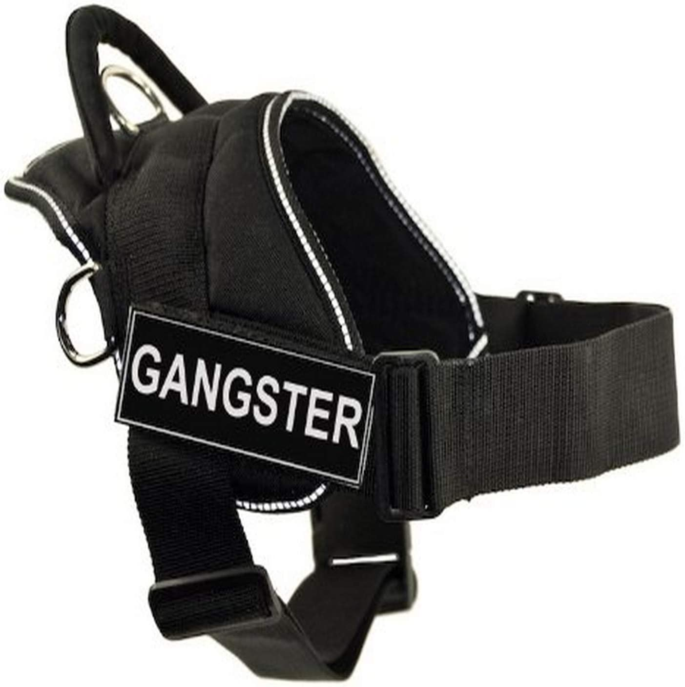 DT Fun Harness Gangster Black Reflective With - X-Small Recommendation Trim Excellence