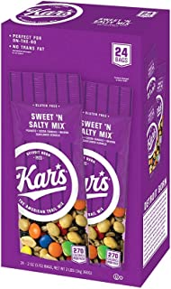 Kar's Nuts Sweet 'N Salty Trail Mix Snacks - High Protein Blend of Peanuts, Sunflower Kernels, Raisins & Chocolate Gems - ...