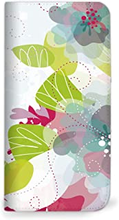 mitas Galaxy NOTE 5 SM-N9200 ケース 手帳型 ベルトなし 花 花柄 花がら フラワー ピンク (262) NB-0068-PK/SM-N9200