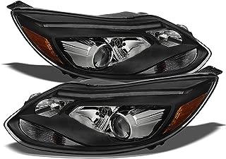 ACANII - For European ST Model 2012-2014 Focus LED DRL Black Projector Headlights Halogen Driver + Passenger Side