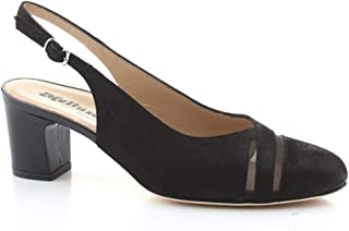 Luxury Fashion | Melluso Women X502NERO Black Leather Heels | Spring-summer 20