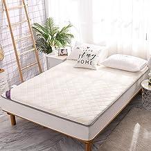 Traditional Japanese Quilting Futon Mattress,Thicken Tatami Mat Sleeping,Foldable Roll Up Mattress Mat,Roll Up Non Slip Bo...