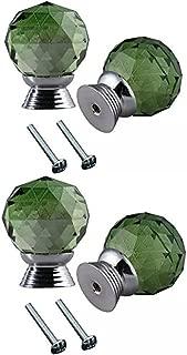 CSKB 4PCS 30mm Retro Simple Style Round Ceramic Door Knob Handle Pull Knobs Door Cupboard Locker for Drawer,Cabinet,Chest, Bin, Dresser, Bathroom,Cupboard, Etc with Screws