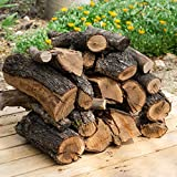 22 kg, 30 Litros leña para chimenea variada, alto poder calorífico. Troncos cortos 40 cm, Estufa, barbacoa, fuego al aire libre, tala sostenible