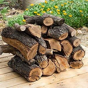 22 kg, 30 Litros leña para chimenea variada, alto poder calorífico. Troncos cortos 40 cm, Estufa, barbacoa, fuego al…