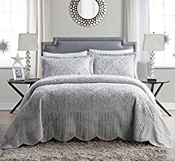VCNY Home Westland 3 Piece Plush Quilted King Bedspread Set
