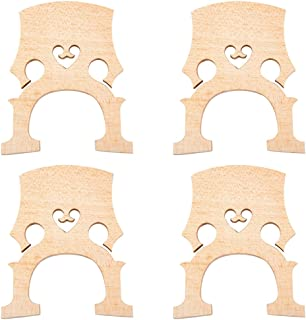Dovewill Durable 4pcs/Pack Aged Maple Bridge for 4/4 Scale Cello Replacement Parts Wood