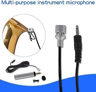 Studyset Mini portátil con cable Electret Condensador solapa Lavalier Clip Instrumento Musical Micrófono para Guitarra Sax