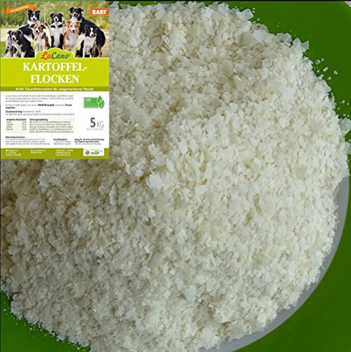 LuCano 5 kg Kartoffelflocken für Hunde | Barf Ergänzungsfuttermittel - Ergänzungsfutter