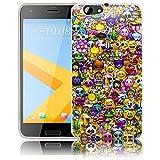 thematys Passend für HTC ONE A9S Emoji Smiley Silikon Schutz-Hülle weiche Tasche Cover Case Bumper Etui Flip Smartphone Handy Backcover Schutzhülle Handyhülle HTC ONE A9S