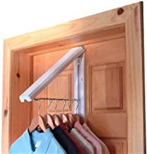 "InstaHanger Closet Organizer, The Original Folding Drying Rack, Wall Mount, Includes ""Over Door Bracket"" For 1 3/8"" Thick ..."