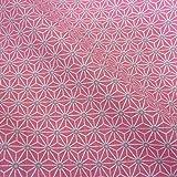 Stoff Baumwollstoff Meterware rosa grau weiß Japan Asanoha