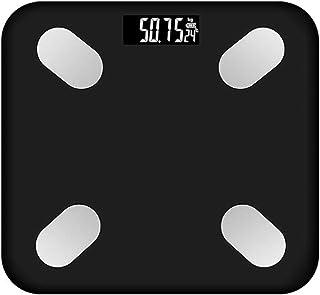 Básculas De Peso Digitales Inteligentes Analizador Ultradelgado Básculas De Baño Báscula De Grasa Corporal Medir El Peso IMC BMR Porcentaje De Grasa Corporal,Negro