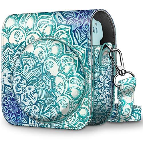CaseBot Tasche für Fujifilm Instax Mini 11 Sofortbildkamera - Premium Kunstleder Schutzhülle Reise Kameratasche Hülle Abdeckung mit abnehmbaren Riemen, Smaragdblau