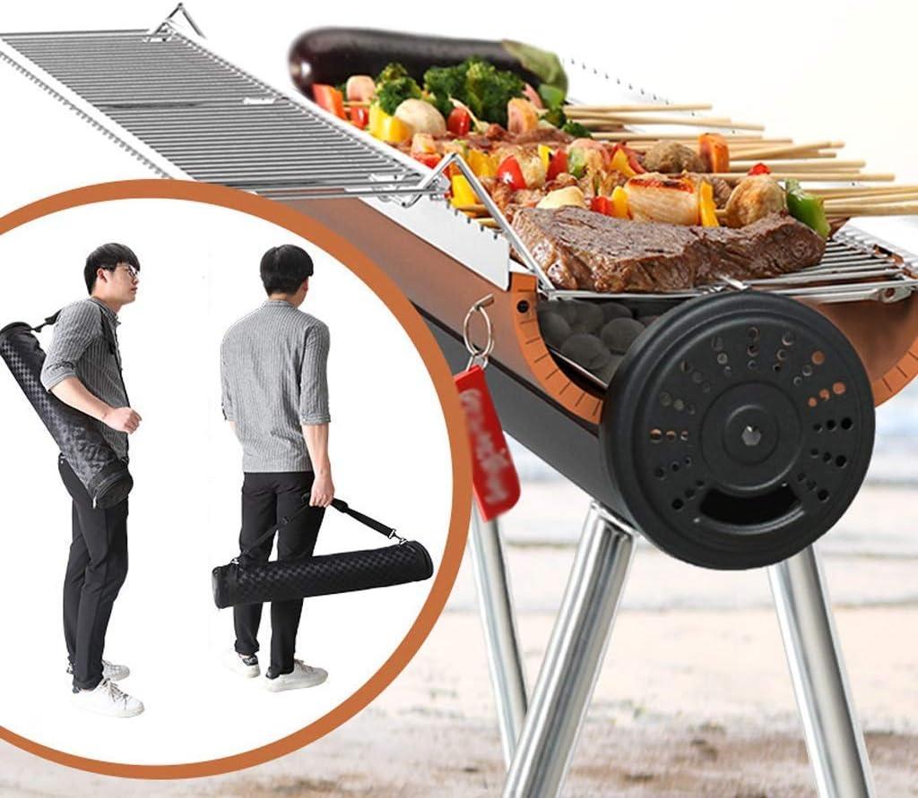 Barbecue Grill Barbecue Grill,Barbecue extérieur Grill Barbecue Barbecue Étagère Ménage 5 Personnes ou Plus Portable Full Carbon Carbon Charcoal @ (Couleur: C) C