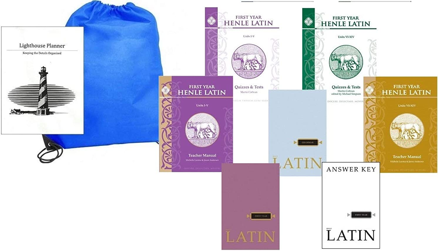 Henle Latin First Year Complete Set Homeschool Kit in a Bag