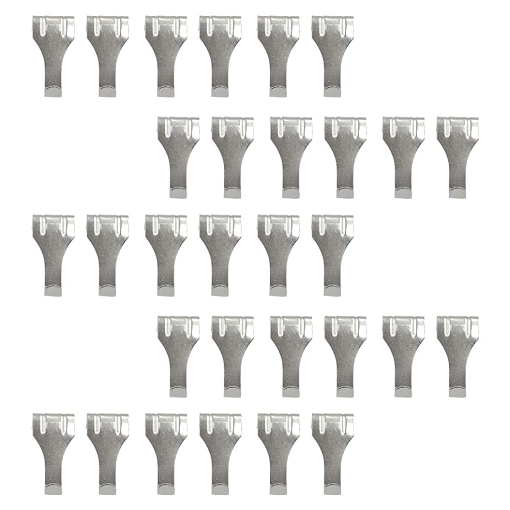 HONJIE Moulding Hooks Picture Photo Frame Rail Hanging Hooks Hangers Zinc Plated-10pcs
