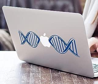 DNA Biology Decal Lab Microscopy Research Nanotech Analytical Helix Biotech Bioscience Apple Macbook Laptop Decal Vinyl Sticker Apple Mac Air Pro Retina