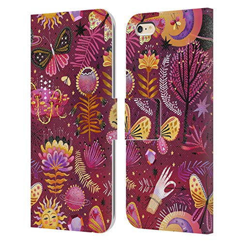 Official Oilikki Butterfly Assorted Designs Leather Book Wallet Case Cover Compatible For iPhone 6 Plus/iPhone 6s Plus