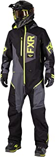FXR Mens Recruite Lite Monosuit (Black/Charcoal/Hi-Vis - Medium)