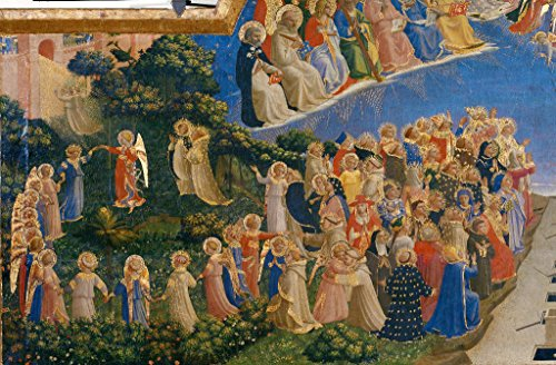 kunst für alle Art Print/Poster: Fra Angelico The Last Judgement Picture, Fine Art Poster, 39.4x25.6 inch / 100x65 cm