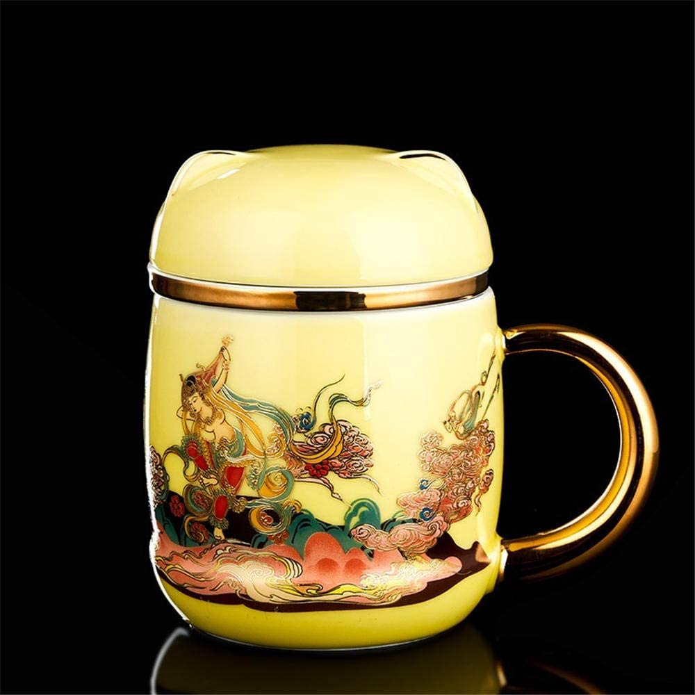 Ceramic Mug With Lid Tea Water Cup Our shop most popular Meet Easy-to-use Women Separation And Men