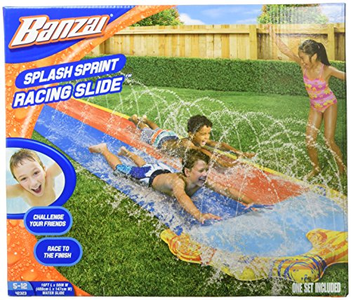 Spring & Summer Toys Banzai 16ft-Long Splash Sprint Racing Slide by Banzai
