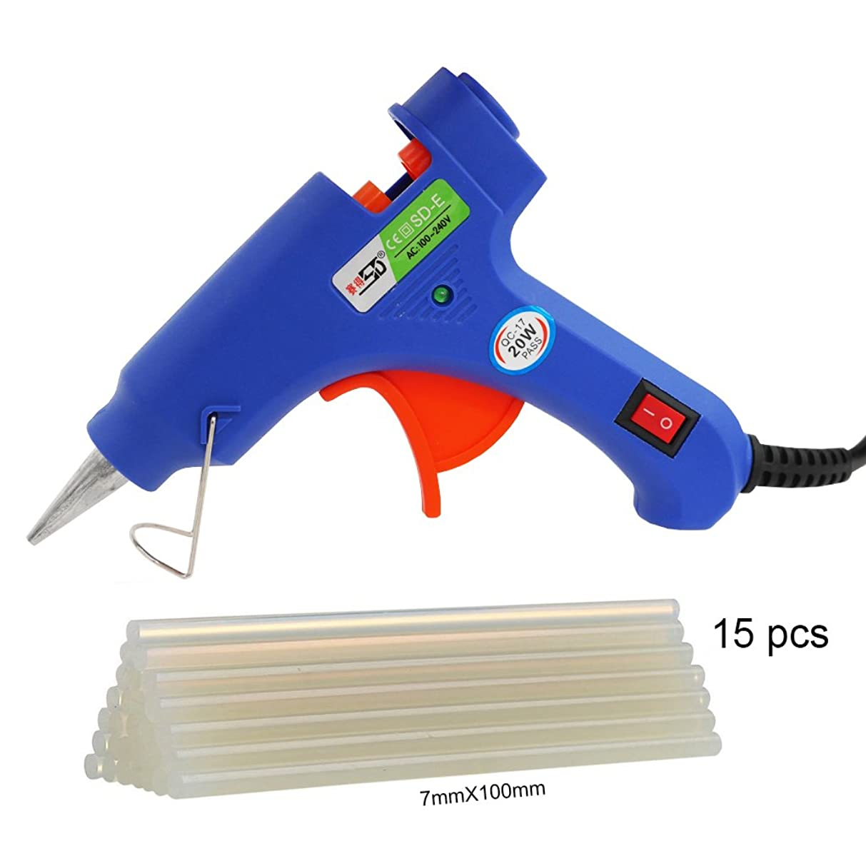 Ilves Mini Glue Gun with 15 Glue Sticks - 20W