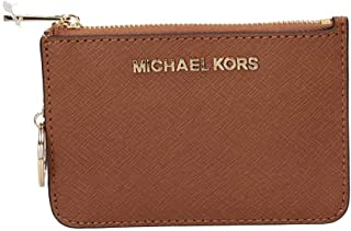 6c7fb0c8006b Michael Kors Saffiano Leather Jet Set Small TZ Coin Pouch Card Case with ID  Window in