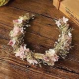 1 couronne de fleurs séchées douce coiffure de mariée accessoire de cheveux de fleur éternelle