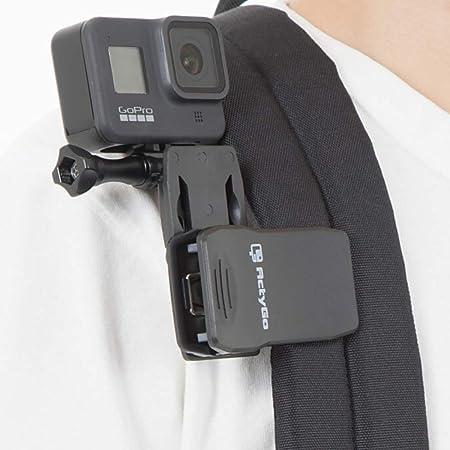 【ActyGo】 GoPro ゴープロ 用 アクセサリー クリップマウント 360°回転式 hero9 hero8 MAX その他アクションカメラ対応