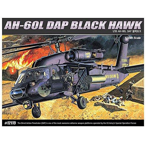 Academy 12115 AH-60L DAP BLACK HAWK Helicopter Plastic Model Kit