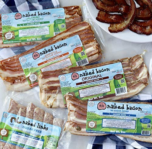 Meat meat sugar and fat naked girls Amazon Com Original Sugar Free Naked Bacon Whole30 Approved Multipack 5 Packages No Sugar Nitrate Free Paleo Keto Ww Friendly Bacon Lower Fat Lower Sodium Grocery Gourmet Food