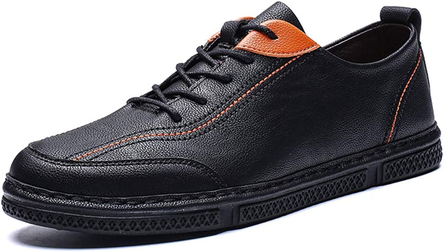 He-yanjing Men's Casual shoes, Microfiber Leather Casual shoes 2019 Spring Korean Version Young Men's shoes British Style Fashion shoes Popular Small shoes,a,43