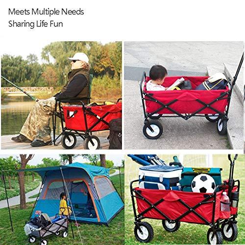 CHHBOXCHH Carro Plegable Camping/Carro para Playa Plegable/Carretilla Jardin 4 Ruedas Carro Camouflage Apto para Cualquier Terreno,Multi-coloredB: Amazon.es: Hogar