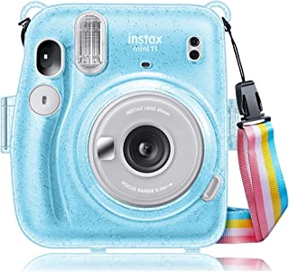 O Ozone Transparent Hard Camera Case for Fujifilm Instax Mini 11 Instant Camera Cover with Adjustable Strap [ Shining Case...