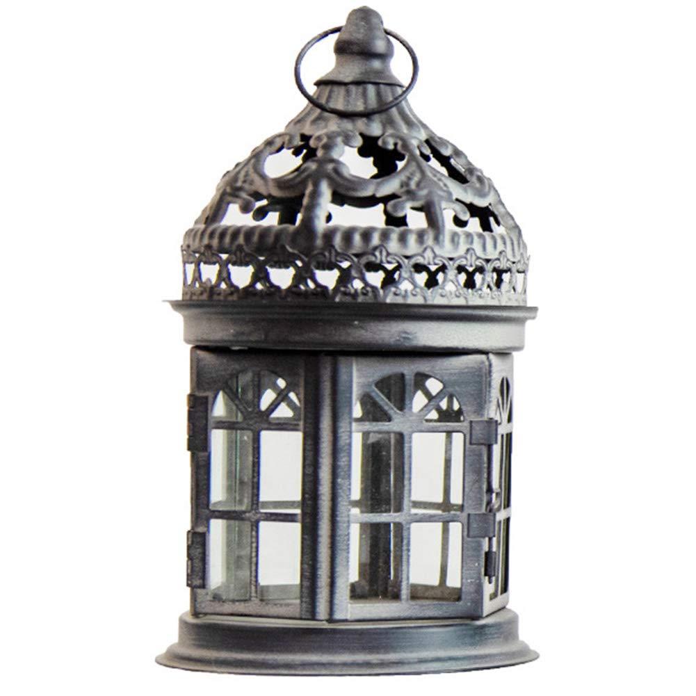 portacandela stile marinaro legno MAXIOCCASIONI Lanterna faro bianco azzurro