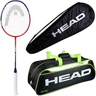 HEAD Head Ignition pro Badminton Racquet Set with Inferno 70 Green kitbag