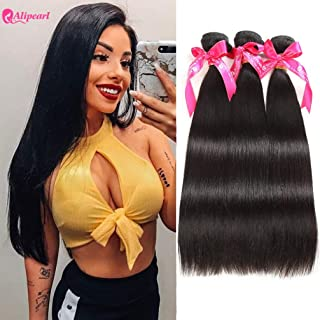 Ali Pearl Brazilian Virgin Human Hair 3 Bundles Unprocessed Straight Hair 3 Bundles Hair Extentions Wholesale Hair Deal (14 16 18)