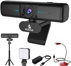 2K Zoomable Webcam Kits, NexiGo 1440P 3X Digital Zoom Web Camera, Tripod Stand, Video Conference Lighting, USB Microphone,...