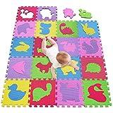 meiqicool Alfombrillas para Puzzles | Alfombra Puzzle para Niños Bebe Infantil 18 Piezas Suelo de Goma EVA Suave 142 x 114cm 5354