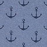 Fabulous Fabrics Sommersweat Anker – Jeansblau —