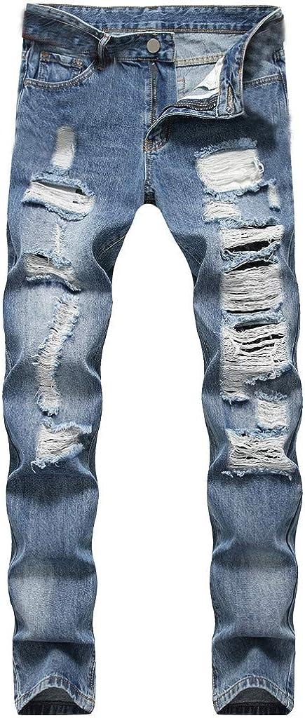 UOKNICE MEN-TOPS Mens Retro Slim Fit Boot Cut Jean, Fashion Casual Skinny Stretch Demin Long Pant