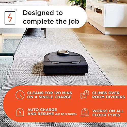 Neato Robotics D7 Connected Laser Guided Robot Vacuum Featuring Multiple Floor Plan Mapping and Zone Cleaning, Works with Amazon Alexa, Silver/Black