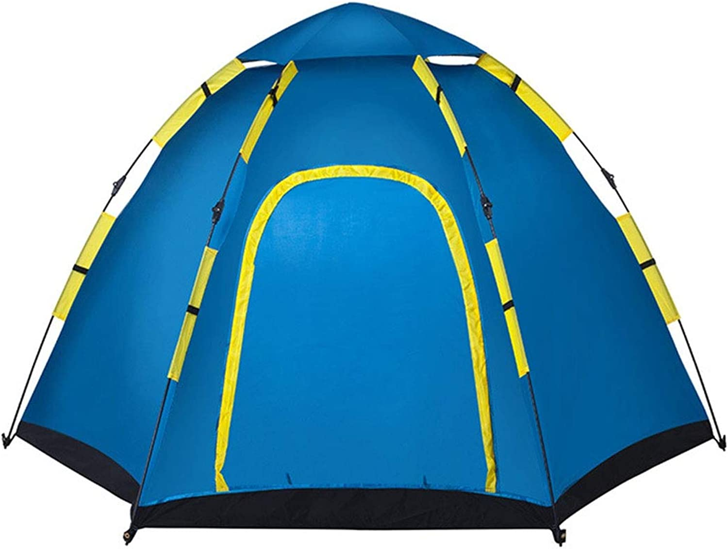 Portable Outdoor Waterproof Folding Tent, 5-8 Large Telescopic Tent, Camping Hiking Beach Tent