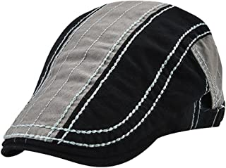 MINAKOLIFE Mens Vintage Washed Cotton Color MatchingFlat Cap Ivy Gatsby Newsboy Caps