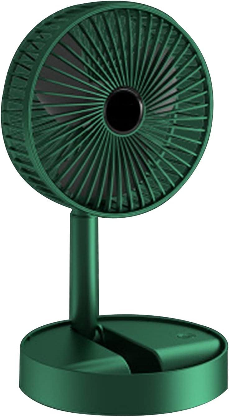 Ventilador de pie plegable portátil Ventilador de pie para exteriores Ventilador de mesa plegable 2000mah Batería recargable de gran capacidad Ventilador USB Adecuado para el hogar la oficina el campi