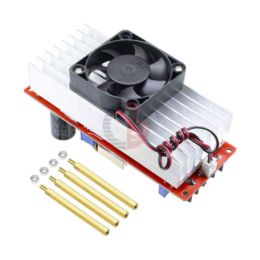 1500W 30A DC-DC Step Up Boost Converter Power Supply Module Adjustable Power Supplies Voltage Regulator for Car Solar Panel