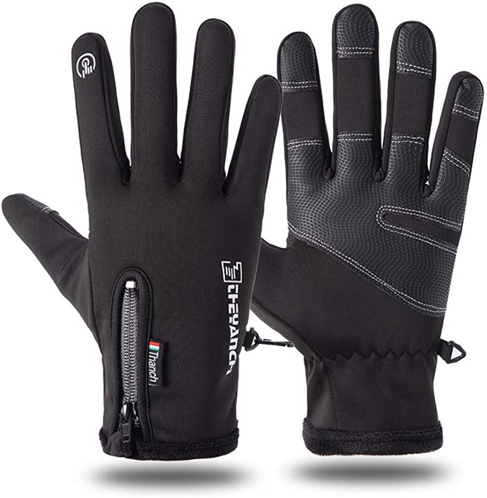 KARRESLY Winter Gloves,Waterproof Warm Touchscreen Gloves for Biking Climbing