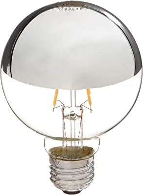 Satco S9828 Medium Light Bulb in Chrome Finish, 4.38 inches, Base, Silver Crown